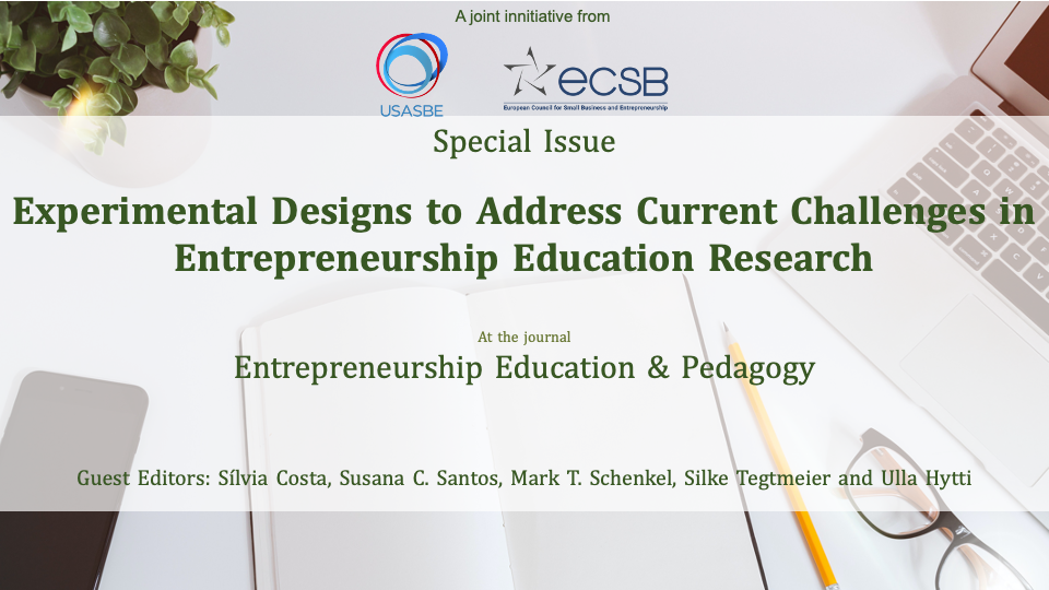 Meet the Guest Editors of SI Experimental Designs to Address Current Challenges in Entrepreneurship Education Research